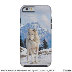 Wolf & Mountain Wolf-Lover Wildlife Art Tough iPhone 6 Case