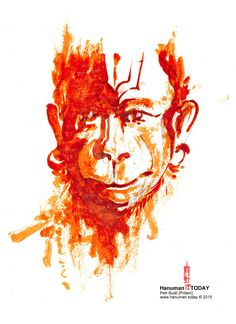 Daily drawings of Hanuman / Hanuman TODAY / Connecting with Hanuman through art / Artwork by Petr Budil [Pritam] www.hanuman.today
