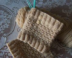 Free Boot Cuff Knit Pattern | Knit Boot Cuff Pattern - PATTERN Only, PDF format, Star Stitch Button ...