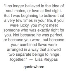 One of my favorite quotes about love