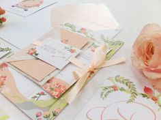 'Midsummer Dream' wedding invitation and stationery suite by Paperknots Coral Wedding Themes, Peach Wedding Colors, Coral Wedding Flowers, Wedding Ideas, Wedding Trends, Vintage Wedding Stationery, Wedding Stationary, Wedding Invitations, Invites