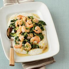 perfect shrimp and grits and no guilt!