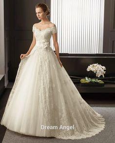 Off Shoulder Wedding Dress - Bohemian Wedding Dress - Boho Wedding Dress