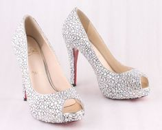 glitter shoes for brides   HOME / BRIDAL / Christian Louboutin 2012 Glitter Bridal Shoes