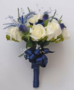 navy blue scottish wedding | wedding buttonholes wedding corsages flower arrangements wedding ...