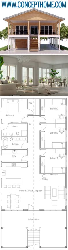 Stairs floor plan deck plans stairs beautiful stock house plans with upstairs balcony open floor plans . Coastal House Plans, Beach House Plans, Shop House Plans, Dream House Plans, Coastal Homes, Stilt House Plans, Little House Plans, Four Bedroom House Plans, Small Modern House Plans