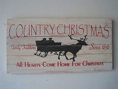 RUSTIC CHRISTMAS/WINTER WOOD SIGN - COUNTRY CHRISTMAS