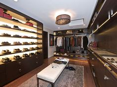 Ultimate walk in closet for the man