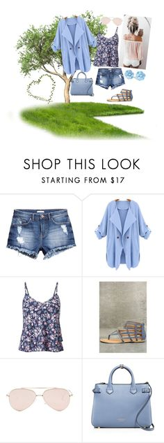 """""""Baby Blue"""" by stormysmom on Polyvore featuring H&M, WithChic, Miss Selfridge, Qupid, Steve Madden and Burberry"""