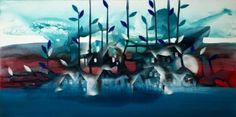"""Saatchi Art Artist Randi Antonsen; Painting, """"new blue"""" #art"""