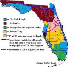 True Floridian Map