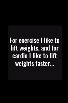 Because You'd Rather Lift Weights Than Do Cardio