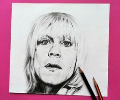 Iggy Pop portrait drawing