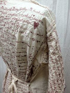red thread poetry dress by ruthrae, via Flickr Incredible machine embroidery, she is so talented.