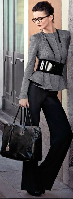 Love a large thick belt that defines a waist so beautifully! The flaired leg on the pants will balance any weight in the hip or thigh area. Gorgeous!