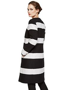 Speziale Striped Overcoat with Wool | M&S