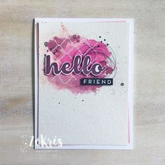 Stampin' Up! - Hello Friend, Little One, watercoloring - ZoKris