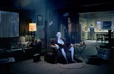 Untitled (The Father), 2007 by Gregory Crewdson on Curiator, the world's biggest collaborative art collection. Narrative Photography, Cinematic Photography, Still Photography, Fine Art Photography, Edward Hopper, Magritte, David Lynch Rabbits, Gregory Crewdson Photography, David Lynch Movies