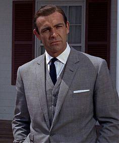 Bond Sean Grey Suit Connery James