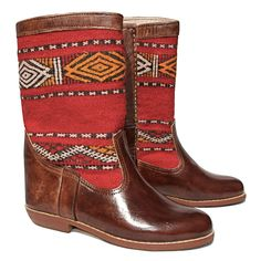 Mid-calf Kilim Boots – size 40 - £150 - Free delivery in Europe - Limited stock. Order Today!