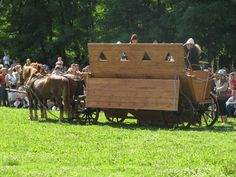 Modern reconstruction of Hussite war wagon