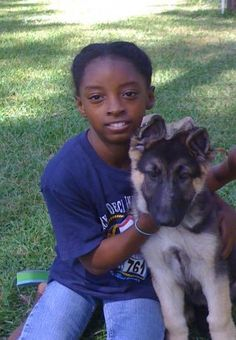 Simone Biles & GSD Puppy