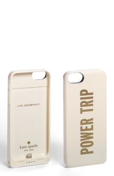 kate spade new york 'power trip' 5 & 5S case & portable charger