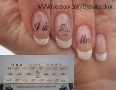 Wedding nails!! I so want these!!! Women, Men and Kids Outfit Ideas on our website at 7ootd.com #ootd #7ootd