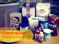 YUK PAHAMI FUNGSI BAHAN BAHAN DALAM PEMBUATAN KUE Marmer Cake, Indonesian Food, Indonesian Recipes, Holiday Baking, Pie Recipes, Cake Cookies, Cooking Tips, Health And Beauty, Bakery