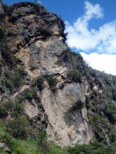 Ecuador: The face in the mountain