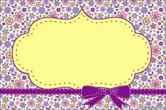 Florido Lilás e Amarelo - Grátis Molduras Convites Rótulos Lembrancinhas Imagens!