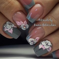 I wouldn't do the flowers on every nail but love the idea!