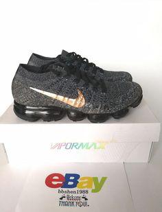 cea773d5e49a6 Men s Nike Air Vapormax Flyknit Explorer Dark Black Metallic Bronze  849558-010 888410535233