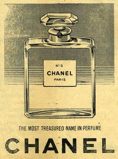 CHANEL vintage advertisment  #illustration