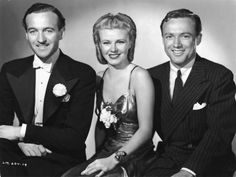 David Niven, Ginger Rogers, and Frank Albertson in Bachelor Mother (1939)