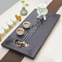 (Ad eBay Url) newly listed black stone tea tray natural stone tea table serving tray drainage1 Stone Masonry, Wood Stone, Zen Tea, Tea Culture, Tea Tray, Chawan, Chinese Tea, Yixing, Tea Set