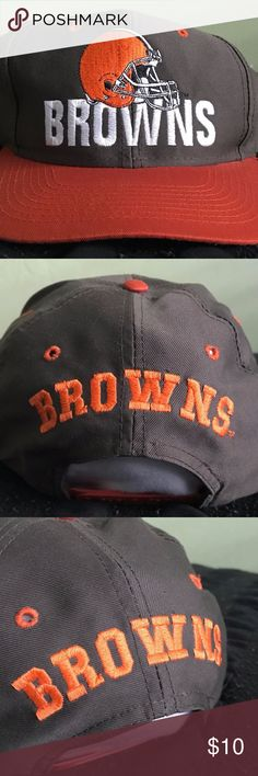 VINTAGE 90's NFL CLEVELAND BROWNS SNAPBACK NEW Details:  Brand new condition! Unworn cap. Material is crispy & untouched by any dirt. Browns logo embroidered on front & back of cap. Vintage green under brim.  *Ships from US.  *Same or next day shipping.  *First-Class US shipping (delivery in 1 to 3 business days).  *First-Class International shipping (delivery in 7 to 21 business days).  *Tracking # supplied after payment.  FEEL FREE TO MESSAGE ME FOR ANY ITEM! NFL Accessories Hats
