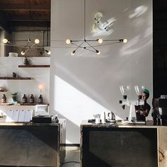 Good morning ☕️ @candtcollective with our Double Cord Chandelier and Bare Ring Sconce on the back wall via @celinieweenie #yourspaceourlights http://www.brendanravenhill.com/collections/church-family