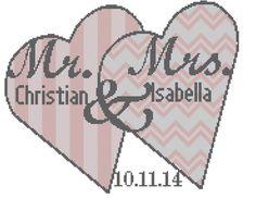 Modern Wedding Cross Stitch Pattern by oneofakindbabydesign