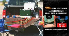 Enter to win the Ultimate Tailgating Kit complete with a supply of TWR favorites, a Coleman grill and steel cooler, plus camp chairs and a fold-up table. Really easy to enter this contest & quick !