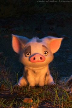 Pua, loyal friend of moana pua pig, gif no, hi gif, disney Disney Animation, Disney Pixar, Art Disney, Film Disney, Disney And Dreamworks, Disney Movies, Disney Characters, Disney Sidekicks, Animals And Pets
