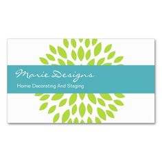 Decorating Business Cards. I love this design! It is available for customization or ready to buy as is. All you need is to add your business info to this template then place the order. It will ship within 24 hours. Just click the image to make your own!