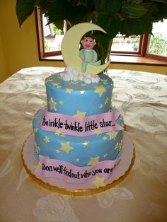 Twinkle, Twinkle Little Star Cake. #CuteQuote