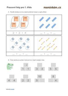 Pracovní listy pro 1. třídu - matematika - počítání do 10 | Maminkám.cz Bar Chart, Education, Teaching Math, Geometry, Bar Graphs, Onderwijs, Learning