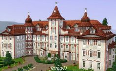 Chateau Hradište - castle at JarkaD Sims3 Blog - Sims 3 Finds