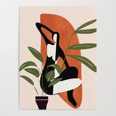 Abstract Female Figure 20 Poster by City Art - X Canvas Art, Canvas Prints, Art Prints, Pop Art, City Art, Art Store, Figurative Art, Art Inspo, Modern Art