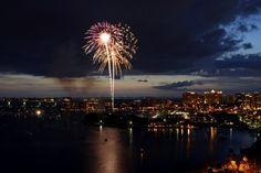 Where will you be watching fireworks this of July? Siesta Key offers an amazing fireworks display put on by the Siesta Key Chamber of Commere. Downtown Sarasota also offers a waterfront show Fourth Of July Decor, 4th Of July Party, Tropical Beach Resorts, Sarasota Bay, Great Shots, Seattle Skyline, Fireworks, Photo Galleries, Ceiling Lights
