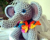 My Hand-Crocheted Amigurumi Baby Elephant featured in this treasury of Etsy delights.