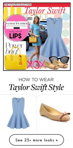 """Taylor Swift"" by micaelatamara on Polyvore featuring MCM, Kerr®, Christian Louboutin and GALA"