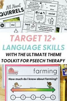 In case you're having a hard time coming up with speech therapy ideas lately, I've got your back. I have 7 complete thematic units (plus more coming in the future) to target 12+ language skills! Check out my post for tips on making your therapy sessions more fun and engaging with theme therapy activities! Receptive Language, Speech Language Pathology, Speech And Language, Speech Therapy Themes, Speech Therapy Activities, Language Lessons, Language Activities, Language Arts, Figurative Language Activity